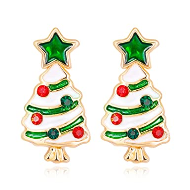 Cute Christmas Gifts For Teenage Girls.Amazon Com Women Christmas Earring Stud 1 Pair Christmas