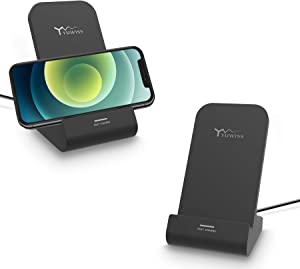 Oinmely Z1 Wireless Charger Wireless Phone Charger Stand Qi-Certified 10W Max Compatible with Apple iPhone 12/12 Pro Max/ 11Pro/11Pro Max/XR/XS Max/XS/X/8/8Plus, Samsung Galaxy