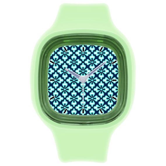 kosmore deportes japonés textil muñeca reloj mujer relojes deportivos para hombre verde