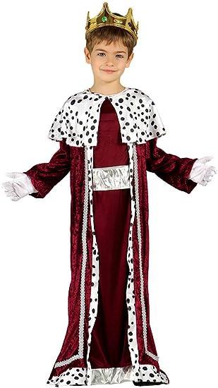 Oferta amazon: Guirca- Disfraz infantil de Rey Mago, Color rojo, 7-9 años (42427.0)
