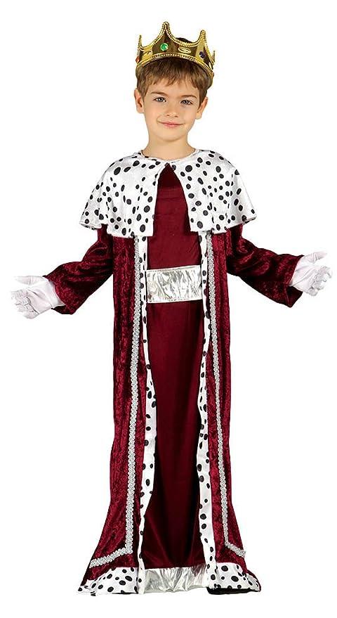 Guirca- Disfraz infantil de Rey Mago, Color rojo, 7-9 años (42427.0)