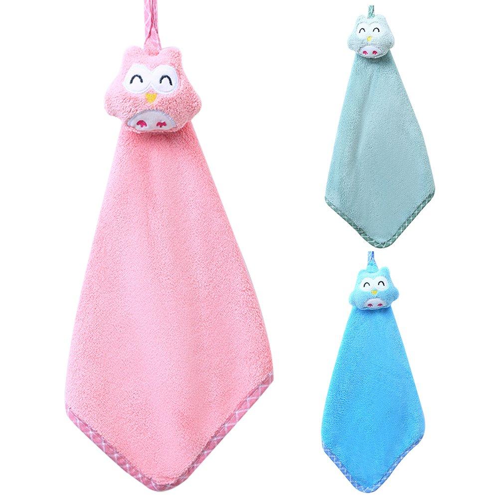 Blu Rocl Asciugamano clifcragrocl,Cartoon Gufo Super Assorbimento Coral Fleece Towel Washcloth Accessori per Il Bagno