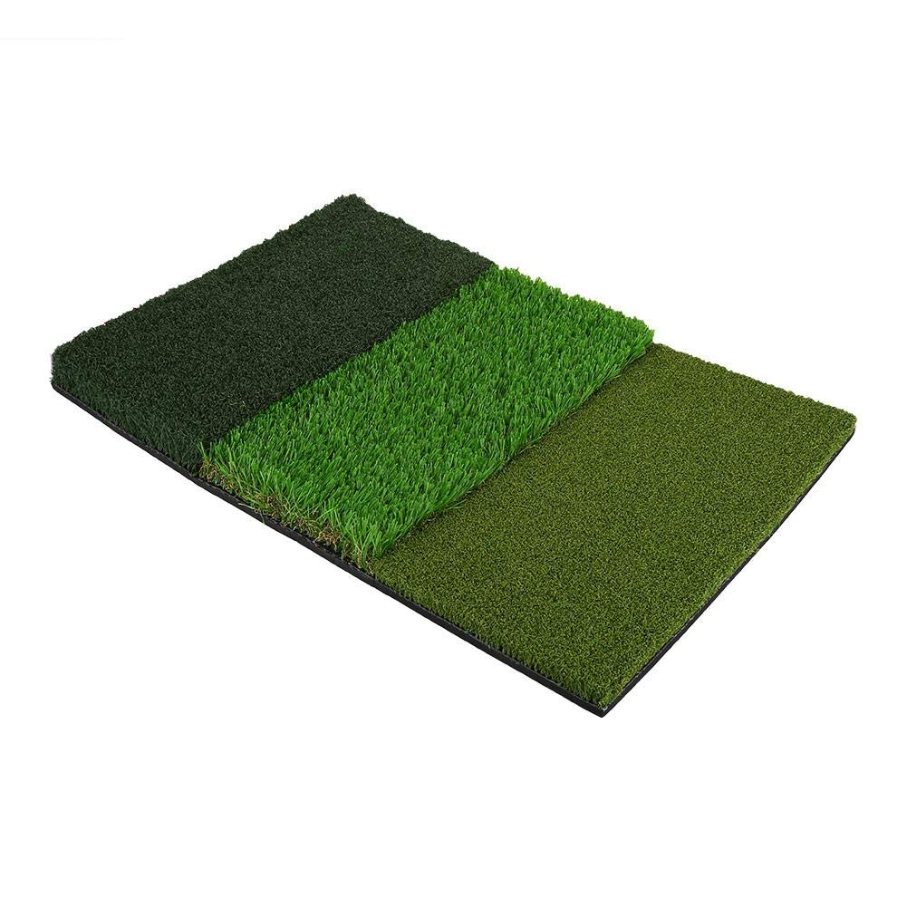 Golf Hitting Grass Mat, 25 x 16inch Portable Golf Tri-Turf Putting Hitting Attack Practice Training Mat, Backyard and Indoor Practice by Zerone