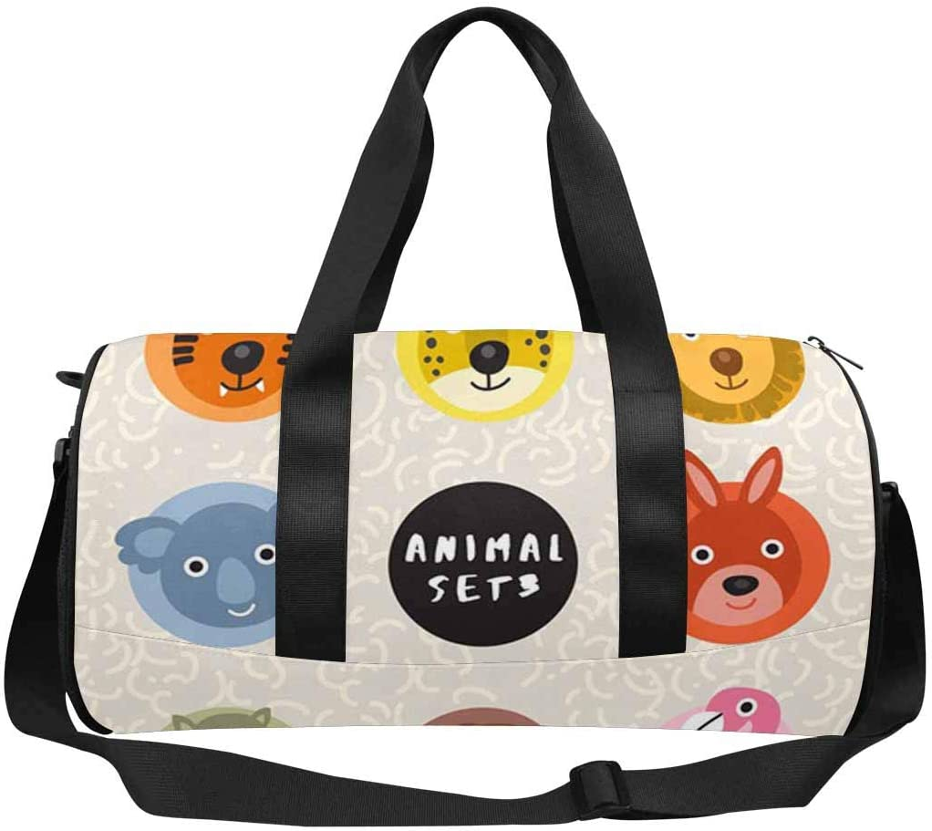 INTERESTPRINT Cute Wild Animal Adults Travel Tote Duffel Bag Carry on
