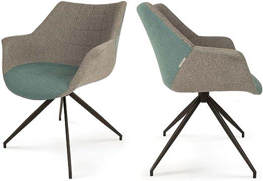 design de Lot Zuiver Couleur Bleu Doulton 2 fauteuils wPOlXTkZiu