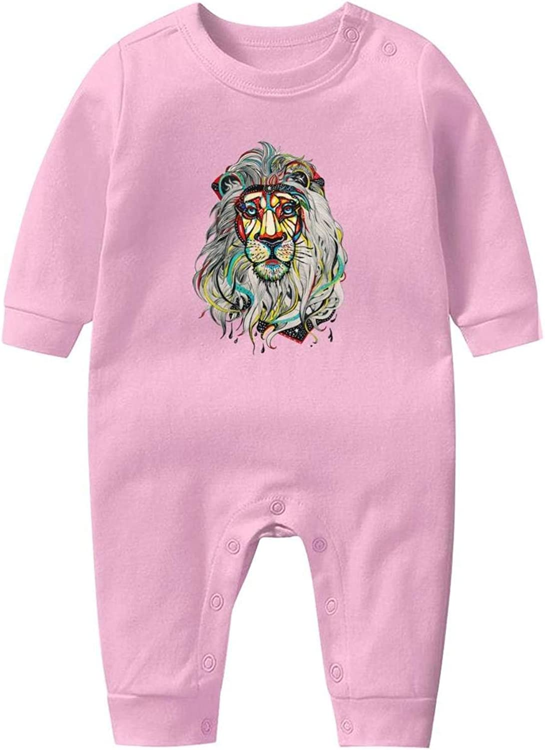 Leo Sign Lion Cute Baby Crawling Suit Lone-Sleeved Romper Bodysuit