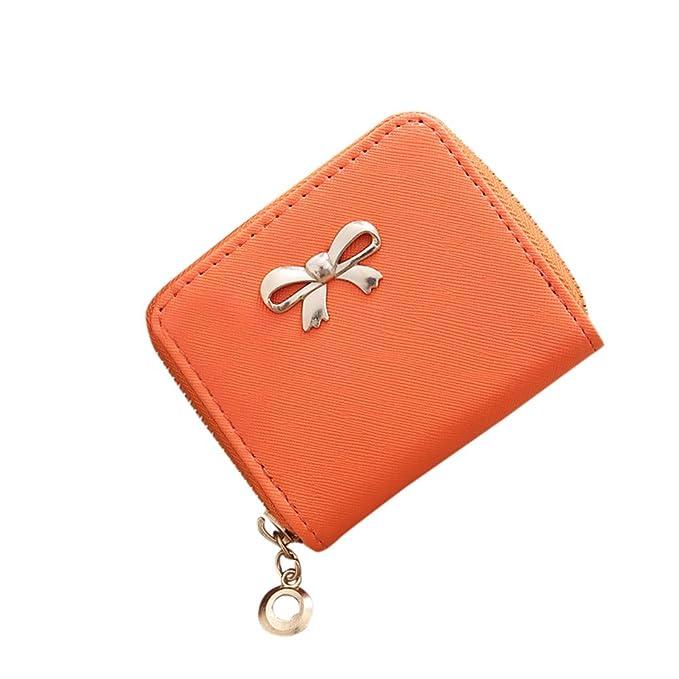 41d1b46ef5 Elecenty Portafogli donna Sacchetto moneta sacchetto quadrato piccolo arco  di Zipper dell'arco della singola