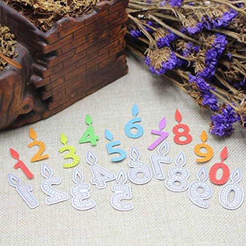 Cugap Embossing Metal Steel Cutting Dies Stencils Digital Candle Scrapbooking Album For DIY Scrapbooking Photo Album Paper Card Decorative Making Craft by Cugap (Image #5)