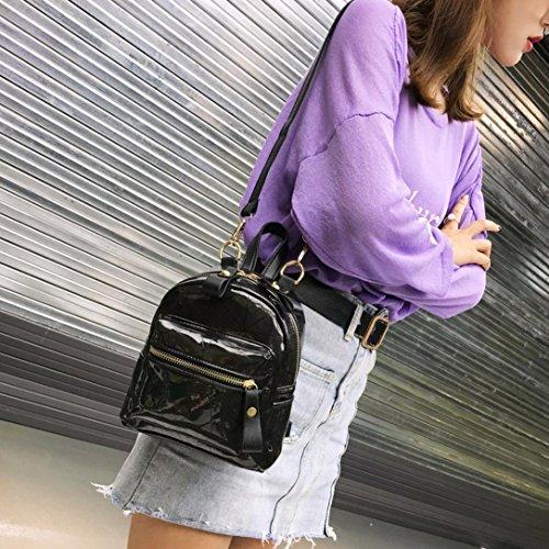 JIANGfu Fille sac messager sac Cabas à étudiant à dos bandoulière main femmes Mode cartable épissage de voyage Sac Femme Femme mode Noir Main à laser sac Sac sac fZqwxf7r