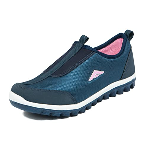 78539944f2b4 Asian shoes Women s Navy Blue and Pink Canvas Shoes - 4 UK India ...