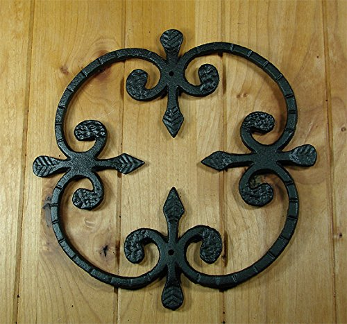 Iron Window Hardware (Speakeasy, Window or Gate Grille, Solid Iron, Black finish Deco Grille #1)