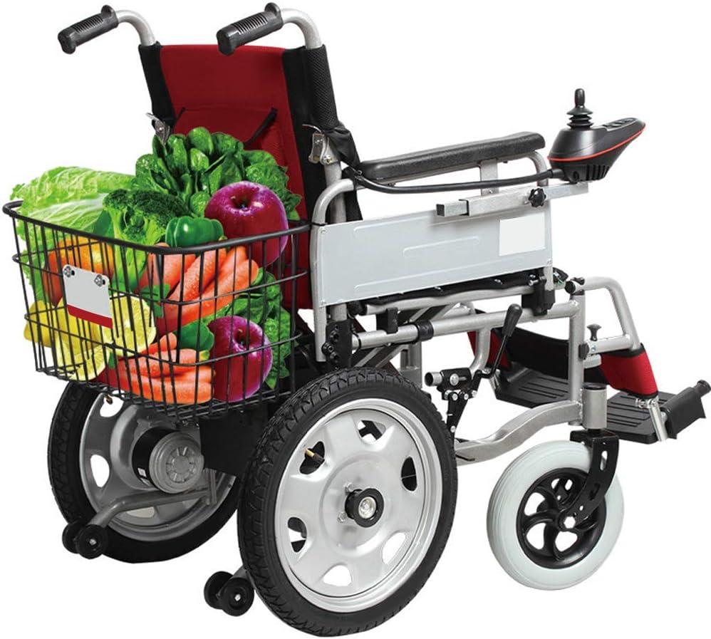 Aluminio silla de ruedas, Silla de ruedas eléctrica plegable del peso ligero de edad avanzada Personas con Discapacidad doble Vespa vieja generación automática de la batería de litio de cuatro ruedas