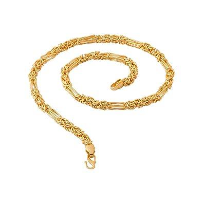 b08196739932ff Voylla Chain for Men (Golden)(8907617240176)  Amazon.in  Jewellery