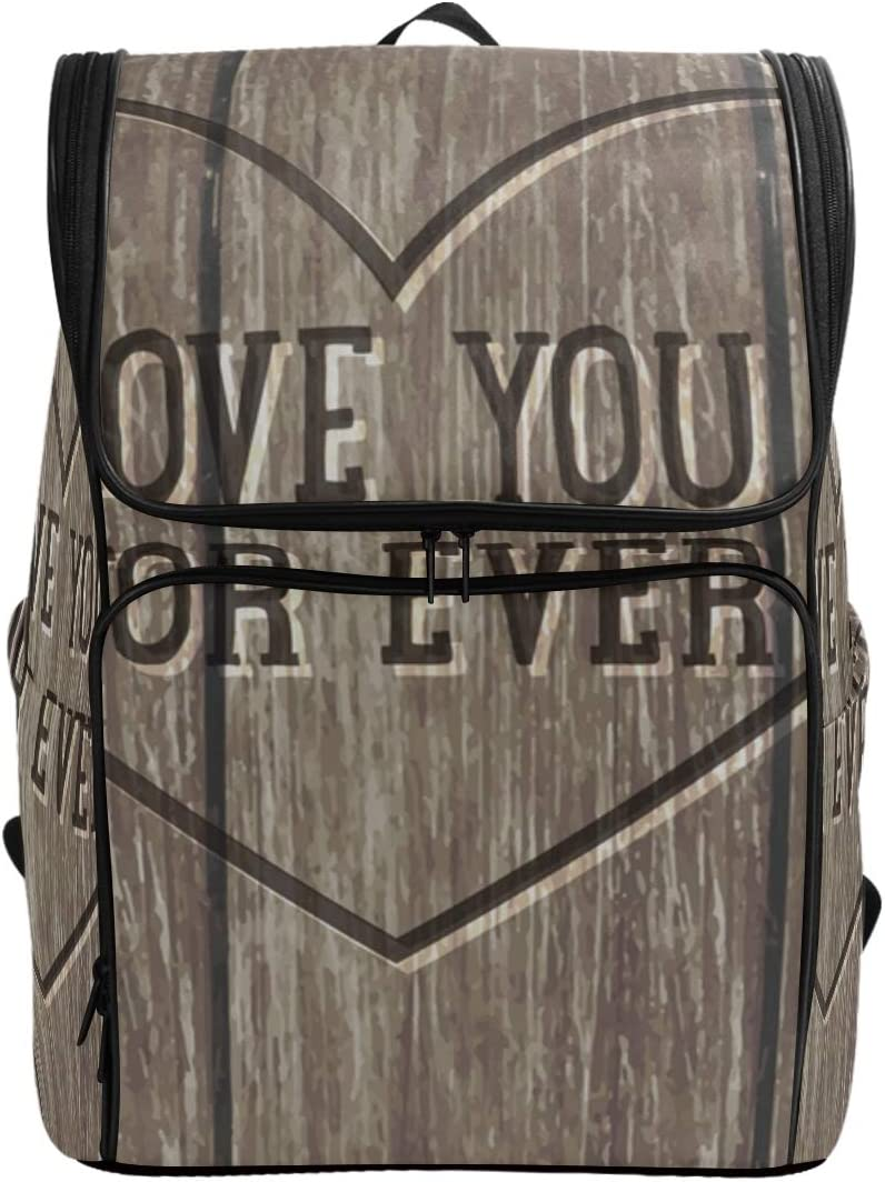 DEZIRO Rustic Wood Texture Travel Backpack Large Bag School Multifunctional Backpack for Women/&Men 19x14x7 Inch