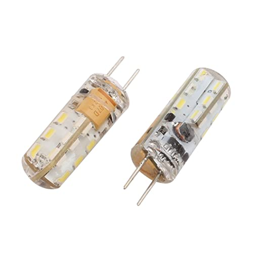 Aexit 2Pcs AC / DC 12V 1.5W G4 3014SMD Bombilla LED Lámpara ...