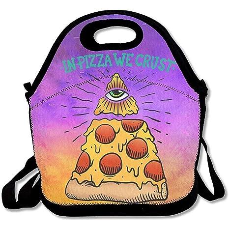 en Pizza We Crust bolsas de almuerzo de neopreno grandes y ...