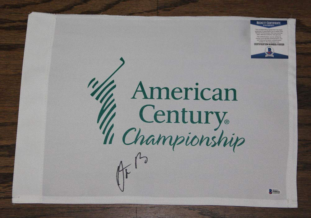 Aaron Rodgers Autographed Signed Auto American Century Championship Flag Bas #F00026 Packers