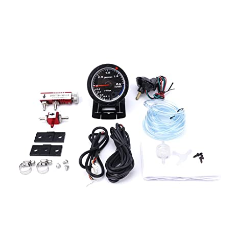cnspeed 60 mm Coche Turbo Boost Gauge + ajustable Kit controlador Turbo Boost 1 – 30