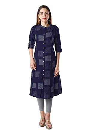 Bright Cotton Women's Cotton Kurta Women's Kurtas & Kurtis at amazon