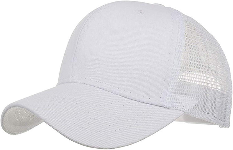 Newly Design Women Men Boys Girls Breathable Mesh Baseball Caps Summer Solid Sun Hat