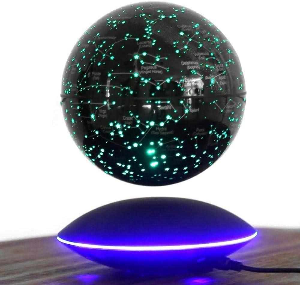 decoraci/ón de regalo GYLEJWH Globo flotante magn/ético de levitaci/ón de 15.2 cm constelaci/ón giratoria de color inteligente mapa del mundo luces LED con luces