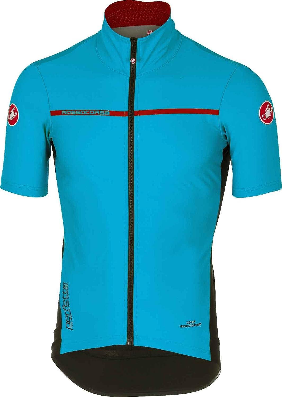 Castelli 2017 メンズ Perfetto 軽量半袖サイクリングジャケット B17085 B079C4W71K  スカイブルー XX-Large