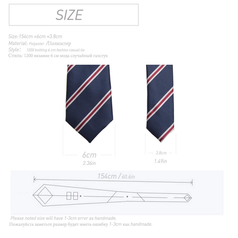 debeca533c67 Thadensama Men Ties Necktie Men'S Vestidos Business Wedding Tie Male Dress  Legame Gift Gravata England Stripes 6Cm Yg01 at Amazon Men's Clothing store: