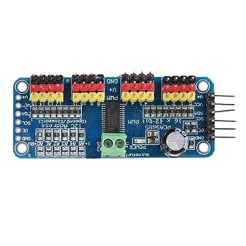 Servo Motor Controller Driver Board,16 Channel PWM/Servo Driver IIC