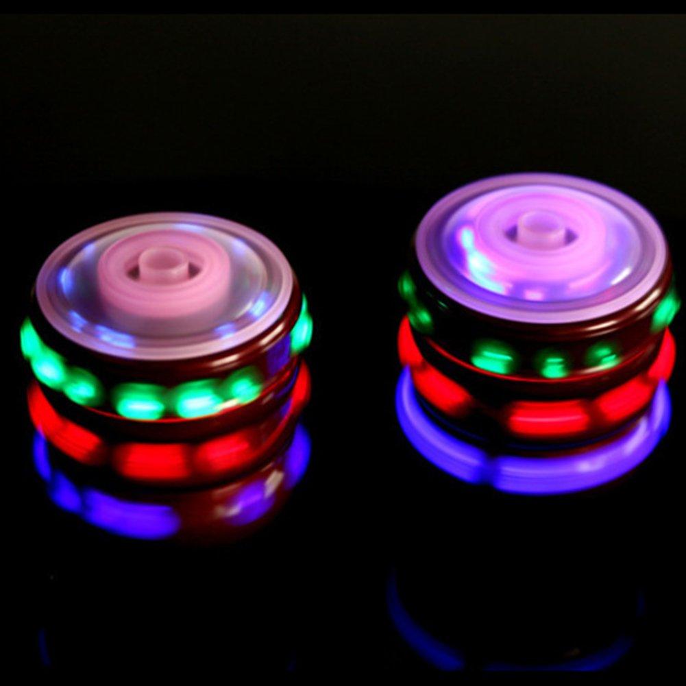 Faironly Kinder LED beleuchtet Musik holz/ähnlicher Peg-top Hand Spinner Kunststoff Flash Gyro Spielzeug Geschenk f/ür Kinder