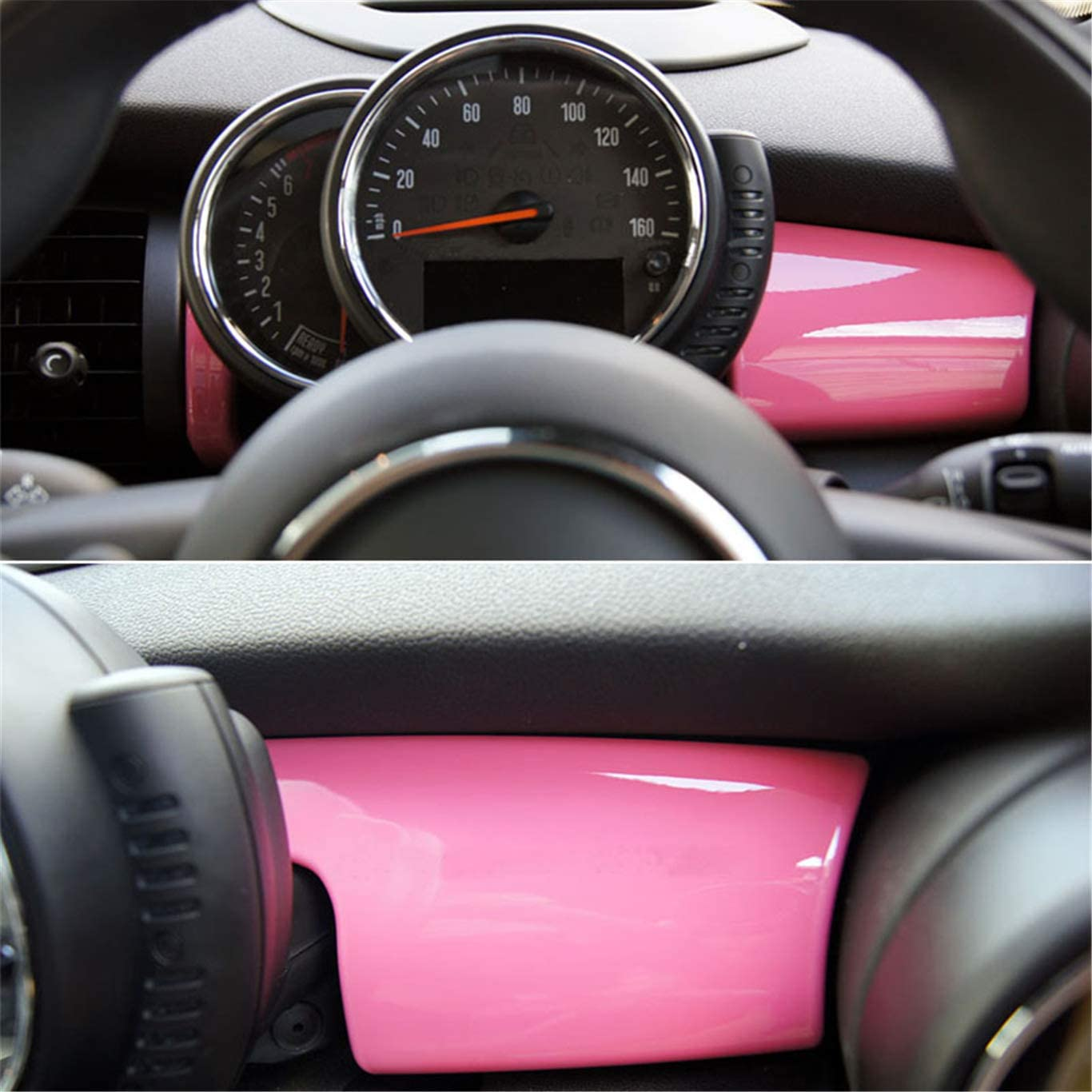 Pink Color ABS Sticker Cover Trim Cap for Mini Cooper ONE S JCW F Series F55 Hardtop F56 Hatchback F57 Covertible 2016-up Side Wing Mirror Cap without Light Hole