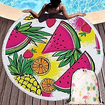 Toalla de Playa Redonda, Manta de Picnic portátil, colchoneta de ...
