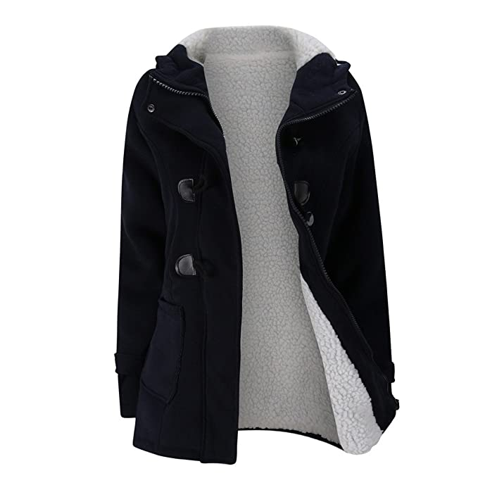 Amazon.com: Chaqueta de lana cálida para mujer de la marca ...