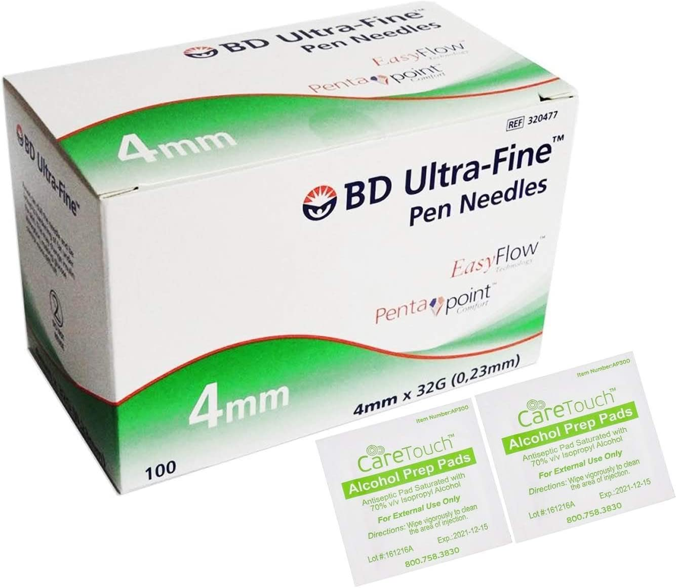 Amazon Com Bd Ultra Fine Pro Pen Needles 4mm X 32g 100ct Bundle