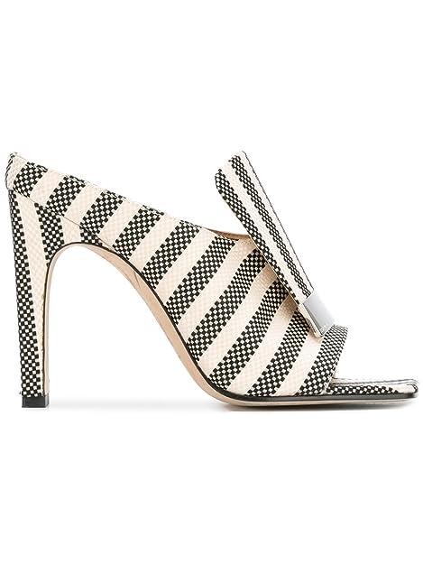 best sneakers 22e5a 7c2ff SERGIO ROSSI Women's A77980mte1211498 White/Black Cotton ...