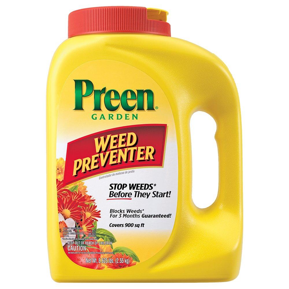 Stop weeds in flower beds - Amazon Com Preen Garden Weed Preventer 5 625 Lb Covers 900 Sq Ft Weed Killers Patio Lawn Garden