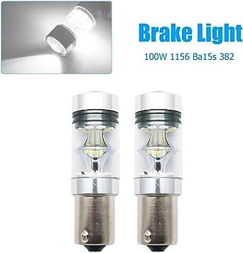 10X White 1156 9 LED Turn Brake Tail Indicator Car Light Bulb 12V P21W BA15S 382