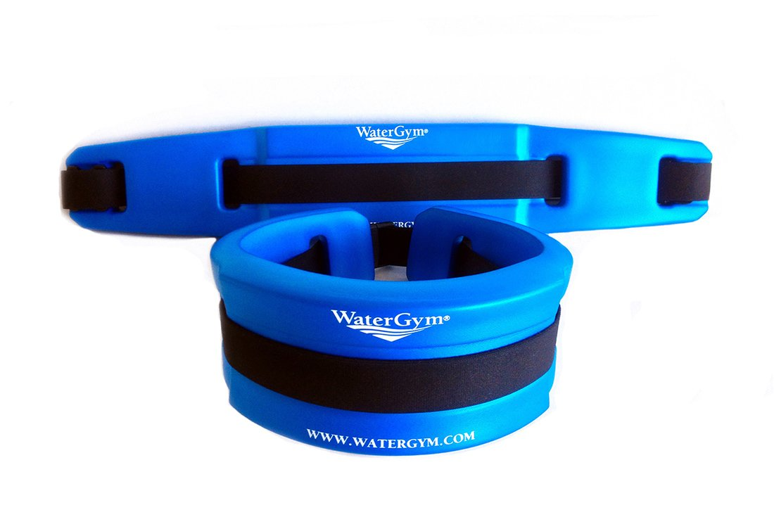 WaterGym Water Aerobics Float Belt for Aqua Jogging and Deep Water Exercise - Size MED/LARGE-Blue