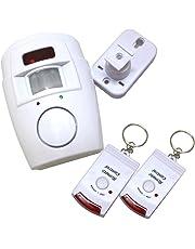Alarma con sensor de movimiento con 2 llaves de control remoto, soporte de pared ajustable