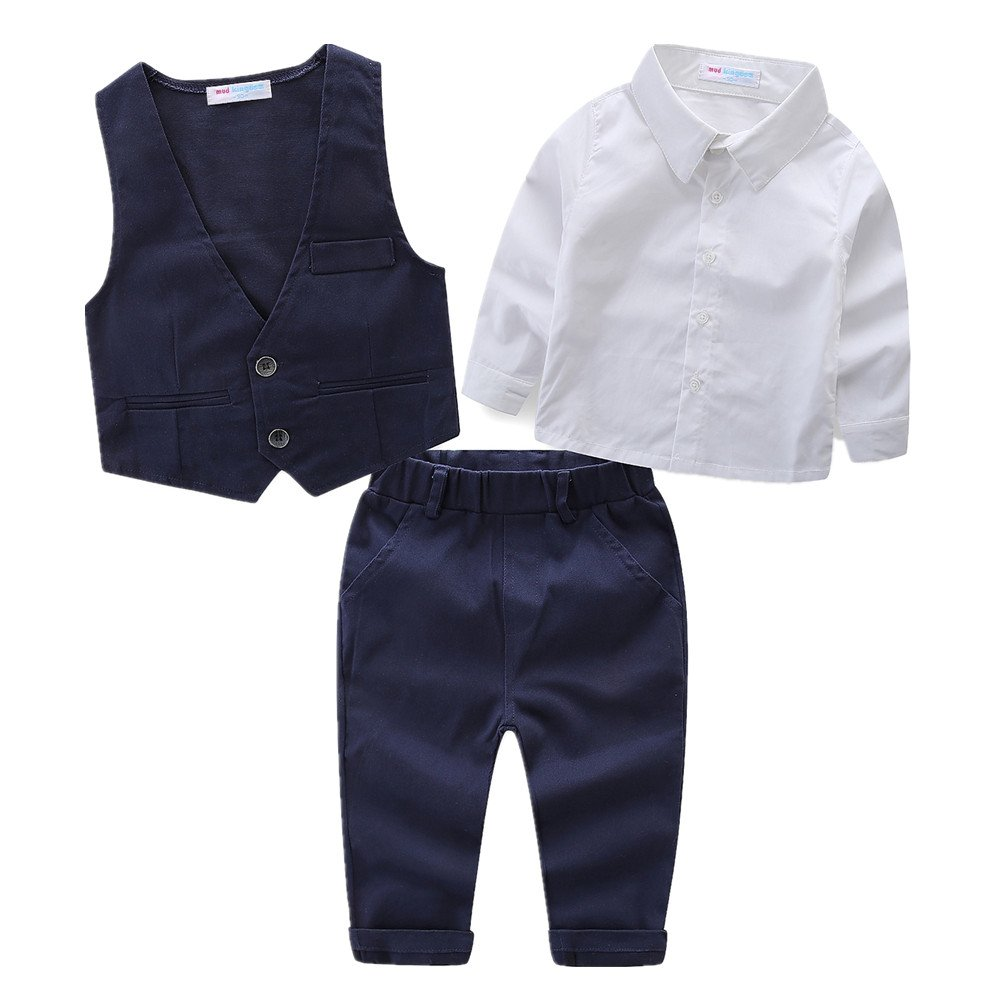 LittleSpring Little Boys' Pants Clothing Sets Gentleman Size 4T Style-1