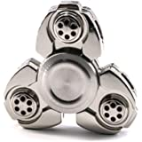 Fidget Spinner,MMTX Tri-Spinner Ultra Fast Bearings Finger Spinner Hand Spinner Toy For Killing Time ,Relieves Stress And Anxiety Great Gift for Chlidren and Adults (Sliver)