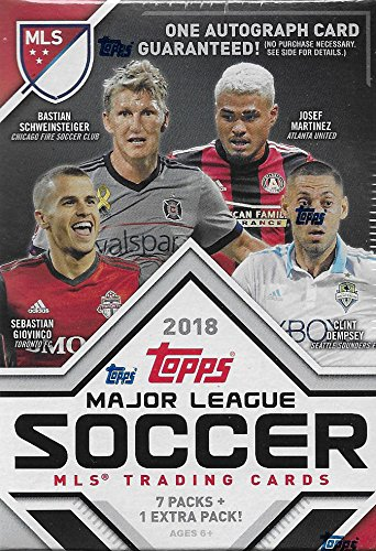 Mls Soccer Trading Cards - 2018 Topps MLS Soccer Unopened Blaster Box of Packs with One GUARANTEED AUTOGRAPHED Card Per Box