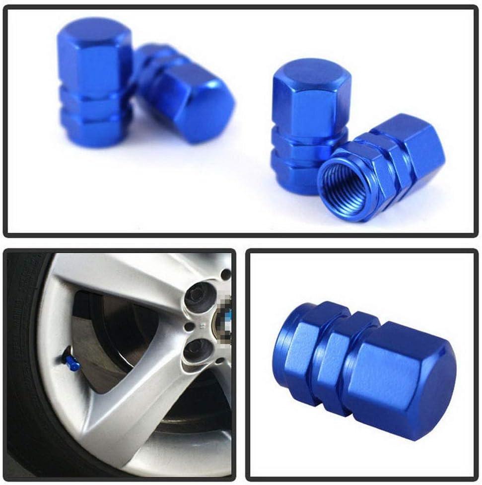 Blue Alloy Wheel Rim Air Valve Stems Dust Cover Cap For Toyota Camry Tacoma RAV4