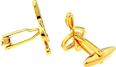 AmDxD Gemelos de Cobre para Hombres Oro Música Notas Gemelos Camisa Gemelos Camisa Hombre 1.43x2.55CM: Amazon.es: Joyería