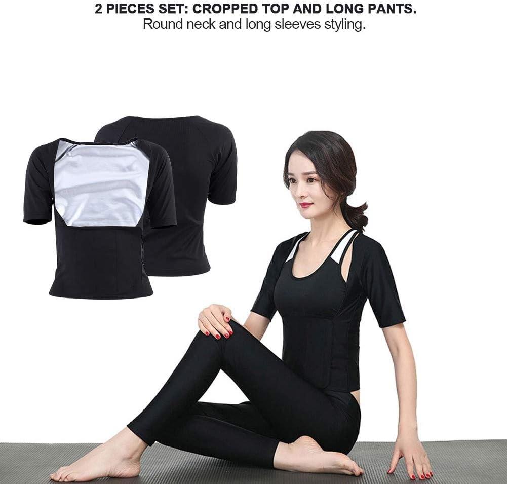 Zer one Traje Corto de Secado r/ápido Deportes Gimnasio Fitness Yoga Delgado Camisa de Estiramiento Sudor Sauna Chaleco Ropa para Mujeres