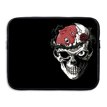 topnn duro calavera para portátil/ordenador portátil/Macbook Pro/MacBook Air Funda blanda para bolsas negro 15 pulgadas: Amazon.es: Electrónica