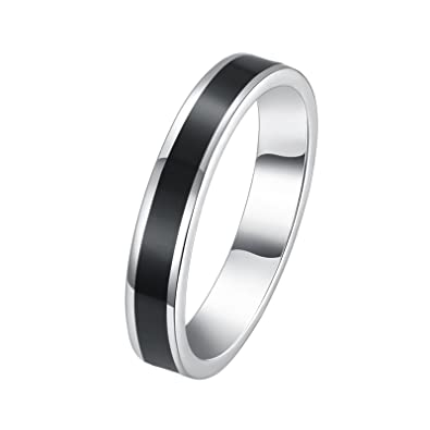 Amazon Com Aooaz Copper Mens Ring Jewelry Circle Shadow White