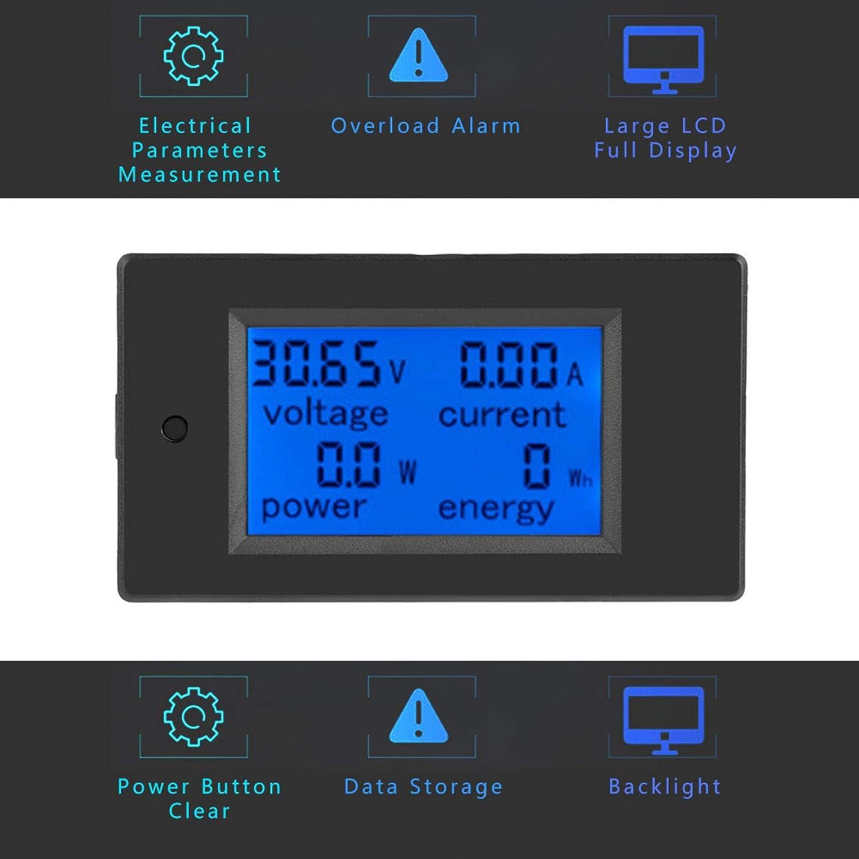 Medidor de corriente de voltaje DC 6.5-100V PZEM-031 Amper/ímetro volt/ímetro con pantalla LCD con funci/ón de alarma de sobrecarga para la industria