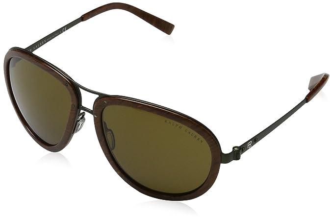 Unisex 0RL7053 900573 Sunglasses, Olive Green Matte/Olivegreen, 59 Ralph Lauren
