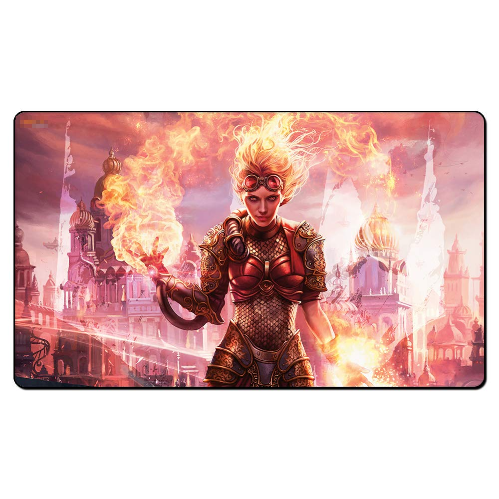Chandra Torch of Defiance Board Cards Games Play Mat Table pad Size 60x35 cm Mousepad playmats with Waterproof Storage Bag for MTG ygo CCG TCG yugioh Pokemon Magic The Gathering