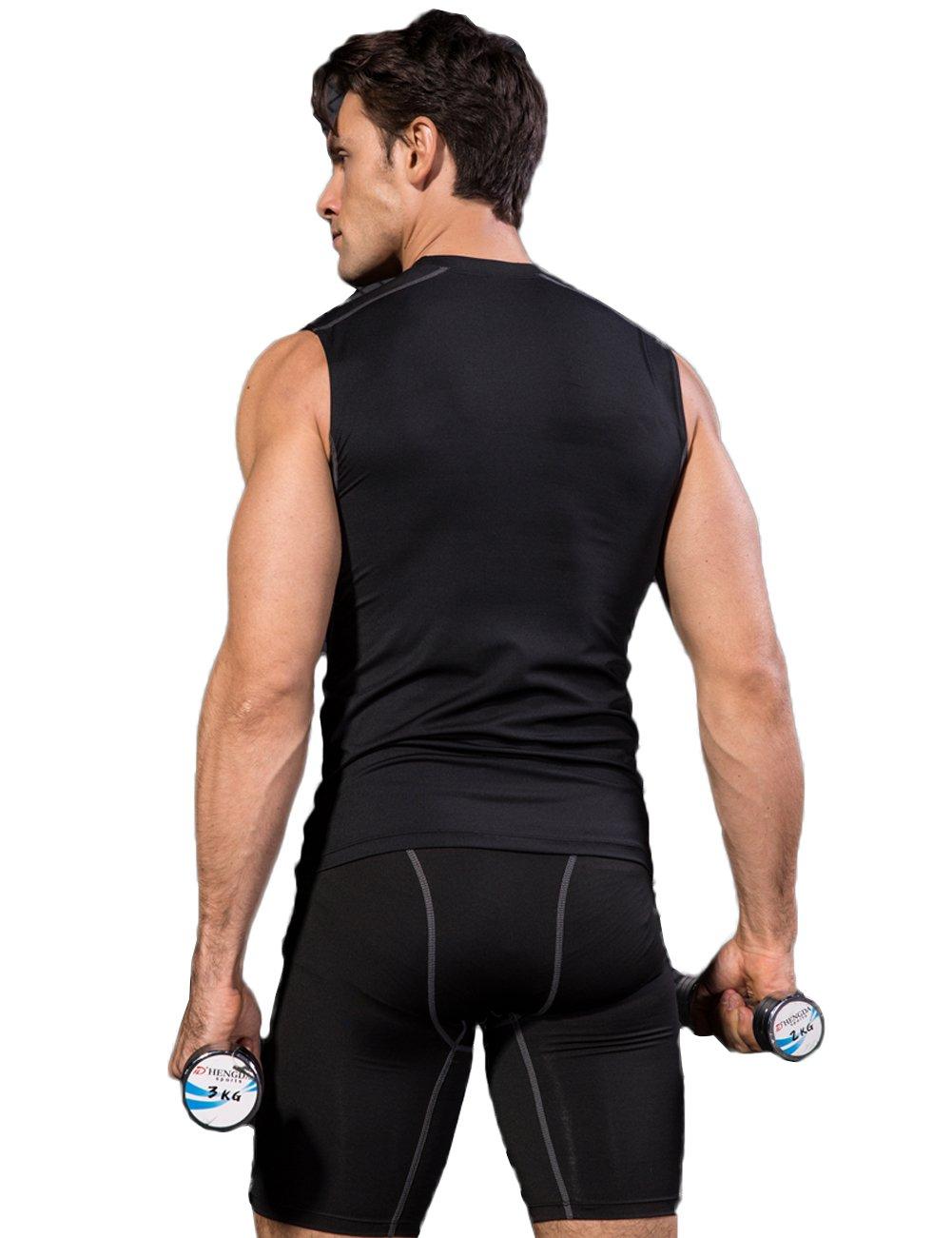 Lavento Mens Tank Top Running Moisture Wicking Cool Dry Sleeveless T-Shirts